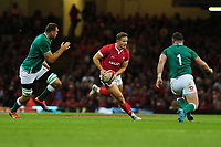 Hallam Amos of Wales in action during todays match during the under armour summer series 2019 match between Wales and Ireland at the Principality Stadium, Cardiff, Wales, UK. Saturday 31st August 2019