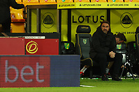 17th April 2021; Carrow Road, Norwich, Norfolk, England, English Football League Championship Football, Norwich versus Bournemouth; Norwich City Manager Daniel Farke