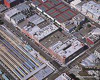 aerial photograph CalTrain Townsend Street San Francisco, California
