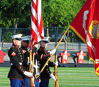 The Madison Mustangs top the Burlington Blue Devils 36-14 on Saturday, 5/29/10, at Breitenbach Stadium in Middleton, Wisconsin