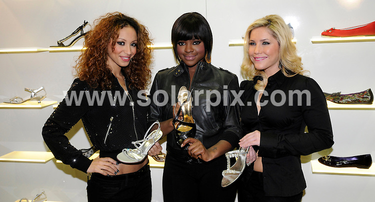 **ALL ROUND PICTURES FROM SOLARPIX.COM**.**SYNDICATION RIGHTS FOR UK AND SPAIN ONLY**.The pop group Sugababes  present their first shoe collection with the make Graceland in Essen in Germany today.JOB REF:5638-CPR        DATE:22_01_08.**MUST CREDIT SOLARPIX.COM OR DOUBLE FEE WILL BE CHARGED* *UNDER NO CIRCUMSTANCES IS THIS IMAGE TO BE REPRODUCED FOR ANY ONLINE EDITION WITHOUT PRIOR PERMISSION*