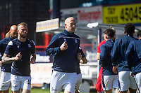 24th April 2021; Dens Park, Dundee, Scotland; Scottish Championship Football, Dundee FC versus Raith Rovers; Charlie Adam of Dundee leads the way during the warm up before the match