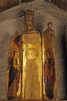 Europe/France/Auvergne/15/Cantal/Massiac: Eglise - Détail Vierge ouvrante XVème siècle