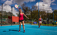 Netherlands, September 5,  2020, Amsterdam, Padel Dam, NK Padel, National Padel Championships, Womans doubles: Suzanne Deul (NED) and Naomi de Kwaadsteniet (NED)<br /> Photo: Henk Koster/tennisimages.com