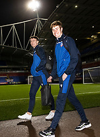 Bolton Wanderers' goalkeepers Billy Crellin (left) and Matthew Alexander arriving at the stadium <br /> <br /> Photographer Andrew Kearns/CameraSport<br /> <br /> The EFL Sky Bet League Two - Bolton Wanderers v Salford City - Friday 13th November 2020 - University of Bolton Stadium - Bolton<br /> <br /> World Copyright © 2020 CameraSport. All rights reserved. 43 Linden Ave. Countesthorpe. Leicester. England. LE8 5PG - Tel: +44 (0) 116 277 4147 - admin@camerasport.com - www.camerasport.com