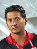 Egypt's coach, Ronald Gonzalez,  stands before the match against Costa Rica during the FIFA Under 20 World Cup Round of 16 match between Egypt and Costa Rica at the Cairo International Stadium on October 06, 2009 in Cairo, Egypt.