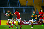 Gavin White, Kerry in action against Ian MaGuire, Cork, during the Munster GAA Football Senior Championship Semi-Final match between Cork and Kerry at Páirc Uí Chaoimh in Cork.