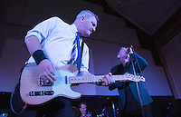 17 DEC 2014 - STOWMARKET, GBR - Dr. Feelgood's Steve Walwyn on lead guitar and Robert Kane on vocals performing at the John Peel Centre for Creative Arts in Stowmarket, Suffolk, Great Britain (PHOTO COPYRIGHT © 2014 NIGEL FARROW, ALL RIGHTS RESERVED)