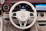 Car pictures of steering wheel view of a 2018 Mercedes Benz E Class 25th Anniversary 2 Door Convertible