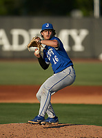 Jesuit Tigers pitcher Alden Segui (16) during a game against the IMG Academy Ascenders on April 21, 2021 at IMG Academy in Bradenton, Florida.  (Mike Janes/Four Seam Images)