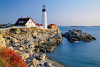 Portland Head Light<br />   and Casco Bay<br /> Fort Williams<br /> Maine