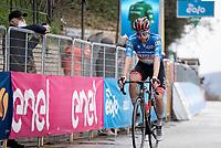 Tadej Pogačar (SVN/UAE-Emirates) finishes 2nd behind Mathieu Van der Poel after a hard stage in harsh conditions (cold winds & rain)<br /> <br /> Stage 5 from Castellalto to Castelfidardo (205km)<br /> <br /> 56th Tirreno-Adriatico 2021 (2.UWT) <br /> <br /> ©kramon
