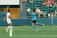 Rochester, NY - Saturday July 23, 2016: Katelyn Rowland during a regular season National Women's Soccer League (NWSL) match between the Western New York Flash and FC Kansas City at Rochester Rhinos Stadium.