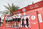 UAE Team Emirates at sign on before Stage 4 the Emirates NBD Stage of the UAE Tour 2020 running 173km from Dubai Zabeel Park to Dubai City Walk, Dubai. 26th February 2020.<br /> Picture: LaPresse/Fabio Ferrari | Cyclefile<br /> <br /> All photos usage must carry mandatory copyright credit (© Cyclefile | LaPresse/Fabio Ferrari)