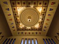 Decke im Saal im Rathaus von Subotica, Vojvodina, Serbien, Europa<br /> ceiling of hall in city hall, Subotica, Vojvodina, Serbia, Europe