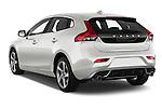 Car pictures of rear three quarter view of 2015 Volvo V40 R-Design 5 Door Hatchback Angular Rear
