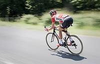 Jelle Vanendert (BEL/Lotto-Soudal) speeding back into the peloton<br /> <br /> Stage 6: Le parc des oiseaux/Villars-Les-Dombes › La Motte-Servolex (147km)<br /> 69th Critérium du Dauphiné 2017