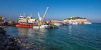 Fine Art Landscape Photograph of the Seaport of Kusadasi, Turkey.