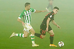 Real Betis Balompie's Sergio Canales (l) and Real Sociedad's Ander Barrenetxea during La Copa match. January 26, 2021. (ALTERPHOTOS/Acero)
