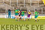 Kerry's Aine O'Connor and Wexfords Joanne Dillon tussle for possession in the National Camogie league Division 2 game, in Austin Stack Park on Sunday