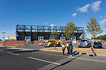 Security checks outside Rugby Park bfore the match. Kilmarnock 2 Ayr United 0, Scottish Championship, August 2nd 2021. Following Kilmarnock's relegation in 2020-21, the first game of the new season is the Ayreshire Derby, the first league match between the teams in 28 years. Due to relaxation of Covid restrictions the match was played in front of a crowd of 3200 Kilmarnock fans. The game was shown live on BBC Scotland.