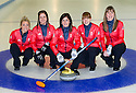 The womens Team GB Winter Olympic Curling Teams 2014.   Left to right : Anna Sloan, Vicki Adams, Eve Muirhead (skip), Claire Hamilton, Lauren Gray.