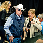LOUISVILLE, KY - MAY 01: Trainer D. Wayne Lukas surveys the room during the Kentucky Derby Post Draw at Churchill Downs on May 1, 2018 in Louisville, Kentucky. (Photo by Scott Serio/Eclipse Sportswire/Getty Images)