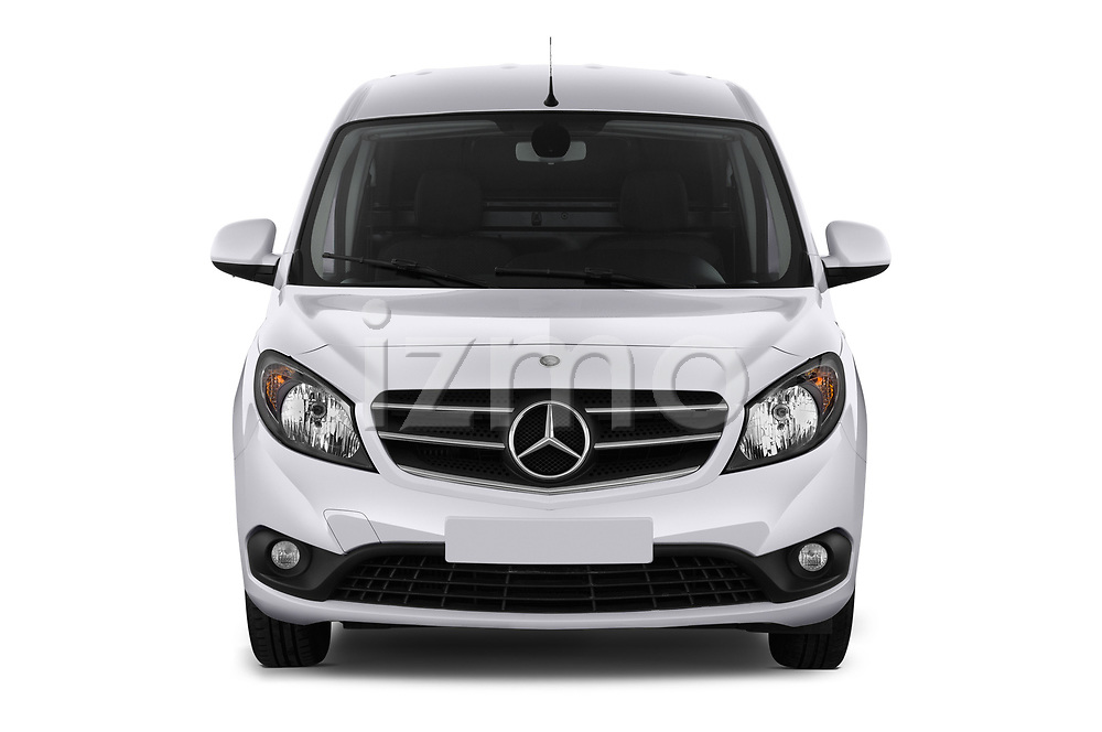 Car photography straight front view of a 2019 Mercedes Benz Citan Perfect-Tool 5 Door Car Van Front View