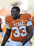 Texas Longhorns linebacker Steve Edmond (33) in action during the game between the Brigham Young Cougars and the Texas Longhorns at the Darrell K Royal - Texas Memorial Stadium in Austin, Texas. Texas defeats Brigham Young 17 to 16...