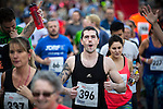 © Joel Goodman - 07973 332324 . 20/09/2015 . Stockport , UK . Start of the race . The Big Stockport run from St Petersage in Stockport Town Centre . Photo credit : Joel Goodman