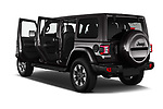 Car images close up view of a 2019 Jeep Wrangler Unlimited Sahara 5 Door SUV doors