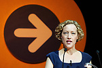 © Joel Goodman - 07973 332324 . 20/06/2012. Manchester , UK . CATHY NEWMAN introduces Andrew Lansley at the NHS Confederation Annual Conference at Manchester Central , in Manchester . During his speech , the Health Secretary called on doctors to call off their strike , planned for tomorrow (Thursday 21st). Photo credit: Joel Goodman