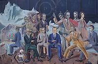 """Europe/Allemagne/Rhénanie du Nord-Westphalie/Cologne: Musée Ludwig Tableau de Max Ernst """"Au rendez-vous des Amis"""""""