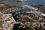 Wickford harbor in North Kingstown, R.I. Aerial images of RI/Narragansett Bay (Photo/Joe Giblin)