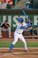 Jakob Goldfarb (23) of the Ogden Raptors at bat against the Grand Junction Rockies at Lindquist Field on June 5, 2021 in Ogden, Utah. The Raptors defeated the Rockies 18-1. (Stephen Smith/Four Seam Images)