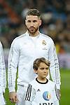 Real Madrid´s Sergio Ramos before 2015/16 La Liga match between Real Madrid and Espanyol at Santiago Bernabeu stadium in Madrid, Spain. January 31, 2016. (ALTERPHOTOS/Victor Blanco)