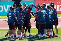 The players of the Spanish soccer team joke with Pepe Reina on the occasion of his birthday during training session. March 21,2018.(ALTERPHOTOS/Acero) /NortePhoto.com NORTEPHOTOMEXICO