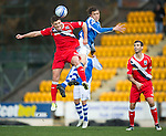 St Johnstone v Ross County...17.11.12      SPL.Murray Davidson and Iain Vigurs.Picture by Graeme Hart..Copyright Perthshire Picture Agency.Tel: 01738 623350  Mobile: 07990 594431
