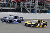 #19: Brandon Jones, Joe Gibbs Racing, Toyota Camry Toyota XYO Networks and #42: John Hunter Nemechek, Chip Ganassi Racing, Chevrolet Camaro Chevrolet Accessories
