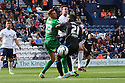 Oumare Tounkara of Stevenage is crowded out<br />  - Preston North End v Stevenage - Sky Bet League One - Deepdale, Preston - 14th September 2013. <br /> © Kevin Coleman 2013