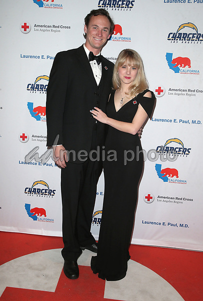 09 March 2018 - Los Angeles, California - Kyle Weishaar, Laura Slade Wiggins. American Red Cross Annual Humanitarian Celebration Honoring The LA Chargers at the Skirball Cultural Center. Photo Credit: F. Sadou/AdMedia