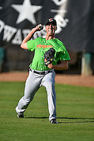 Great Falls Voyagers starting pitcher Alec Hansen (51) warms up in the outfield before the game against the Ogden Raptors in Pioneer League action at Lindquist Field on August 16, 2016 in Ogden, Utah. Ogden defeated Great Falls 2-1. (Stephen Smith/Four Seam Images)