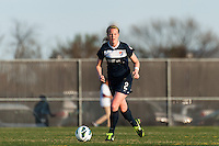 Sky Blue FC defender CoCo Goodson (2). Sky Blue FC defeated the Western New York Flash 1-0 during a National Women's Soccer League (NWSL) match at Yurcak Field in Piscataway, NJ, on April 14, 2013.