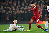 LIVERPOOL, GREAT BRITAN - NOVEMBER 5 :  Alex Oxlade Chamberlain midfielder of Liverpool battles for the ball with Bryan Heynen midfielder of Genk during the UEFA Champions League match between Liverpool FC and KRC Genk on November 05, 2019 in Liverpool, Great Britan, 5/11/2019 <br /> Liverpool 5-11-2019 Anfield <br /> Liverpool - Genk <br /> Champions League 2019/2020<br /> Foto Photonews / Panoramic / Insidefoto <br /> Italy Only