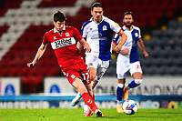 Middlesbrough's Paddy McNair competes with Blackburn Rovers' Sam Gallagher<br /> <br /> Photographer Richard Martin-Roberts/CameraSport<br /> <br /> The EFL Sky Bet Championship - Blackburn Rovers v Middlesbrough - Tuesday 3rd November 2020 - Ewood Park - Blackburn<br /> <br /> World Copyright © 2020 CameraSport. All rights reserved. 43 Linden Ave. Countesthorpe. Leicester. England. LE8 5PG - Tel: +44 (0) 116 277 4147 - admin@camerasport.com - www.camerasport.com
