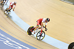 Glasgow 2014 Commonwealth Games<br /> Sam Harrison competing in the men's 40km points race final.<br /> Sir Chris Hoy Velodrome<br /> Sir Chris Hoy Velodrome<br /> 26.07.14<br /> ©Steve Pope-SPORTINGWALES