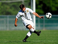 1 September 2009: University of Vermont Catamount midfielder/backfielder Sean Sweeney, a Freshman from Cromwell, CT, in action against the Siena College Saints at Centennial Field in Burlington, Vermont. The Saints edged out the Catamounts 1-0. Mandatory Photo Credit: Ed Wolfstein Photo