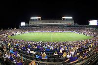 Orlando, Florida - Saturday, April 23, 2016: Fans enjoy an evening NWSL match between Orlando Pride and Houston Dash at the Orlando Citrus Bowl.  Orlando won 3-1.