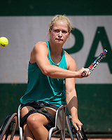 Paris, France, 7 June, 2017, Tennis, French Open, Roland Garros,  Wheelchair women, Diede Groot (NED)<br /> Photo: Henk Koster/tennisimages.com