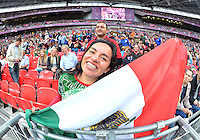 August 07, 2012..Supporter of Mexico's Soccer team during Semi Final match at the Wembley Stadium on day eleven in Wembley, England. Mexico defeat Japan 3-1 to reach Men's Finals of the 2012 London Olympics...